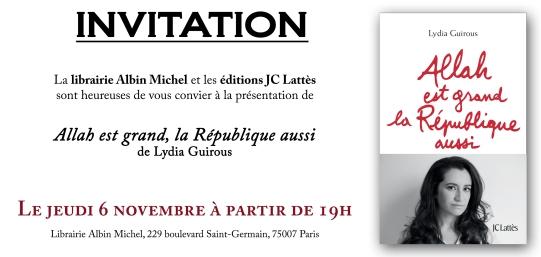 Invitation Lydia Guirous